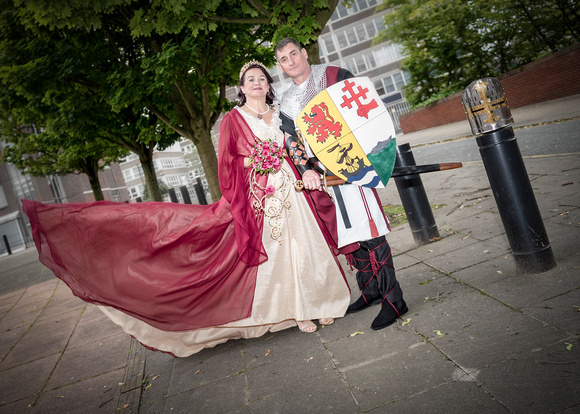 medieval wedding just married preston lancashire lord and lady