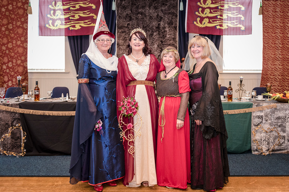 medieval bride and her ladies in waiting lancashire