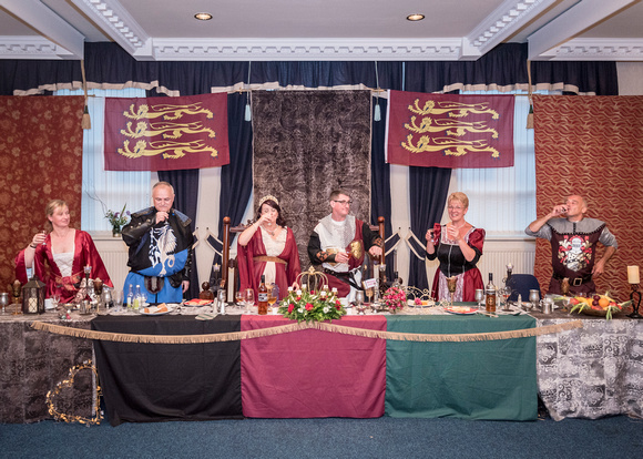 cheers bride groom wedding guests top table queens lancashire regiment military medieval masonic hall preston