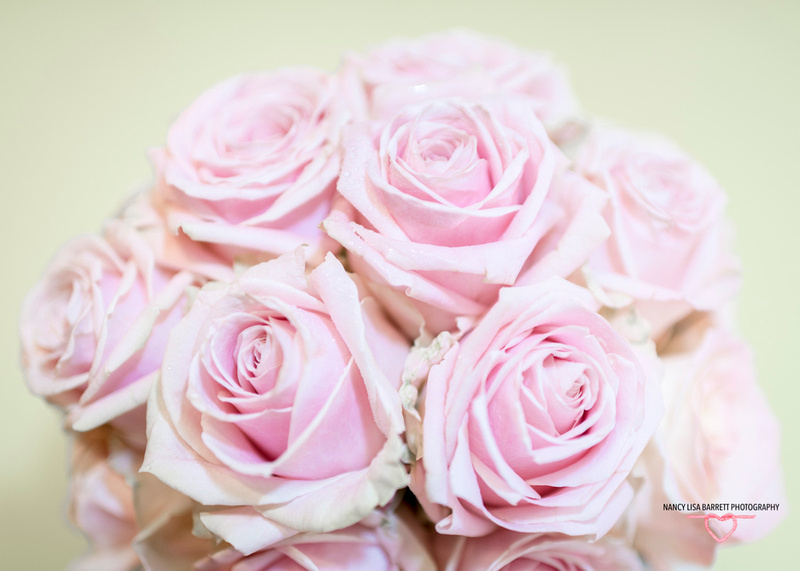 burnley bride wedding bouquet in pink