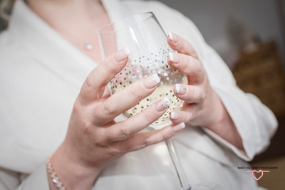 burnley bride wedding nails and champagne glass
