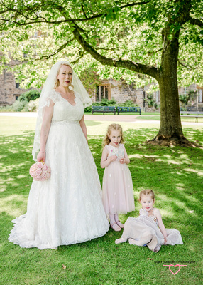 bride wedding dress flower girls bridesmaid dresses pastel colours towneley hall gardens lancashire