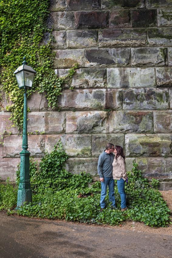 avenham park kiss under the lamp post and railway bridge