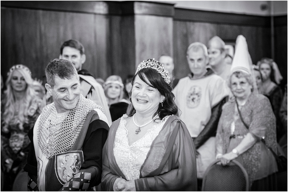 medieval bride and groom about to be married lancashire
