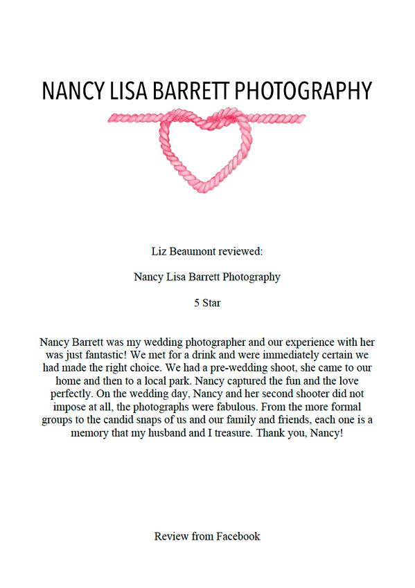 wedding reviews for nancy lisa barrett photographer lancashire photographer