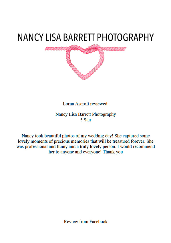 wedding reviews for nancy lisa barrett photographer lancashire photographer